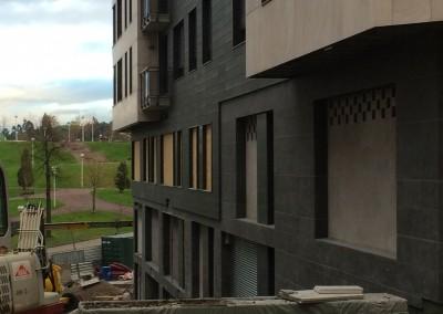 Flamed G684 basalt- facade