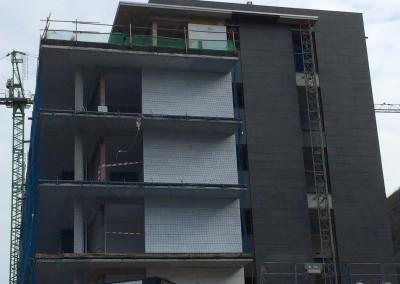Flamed G684 basalt - facade